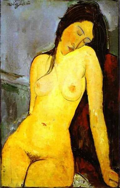 seated nude 1916 XX courtauld institute galleries london uk